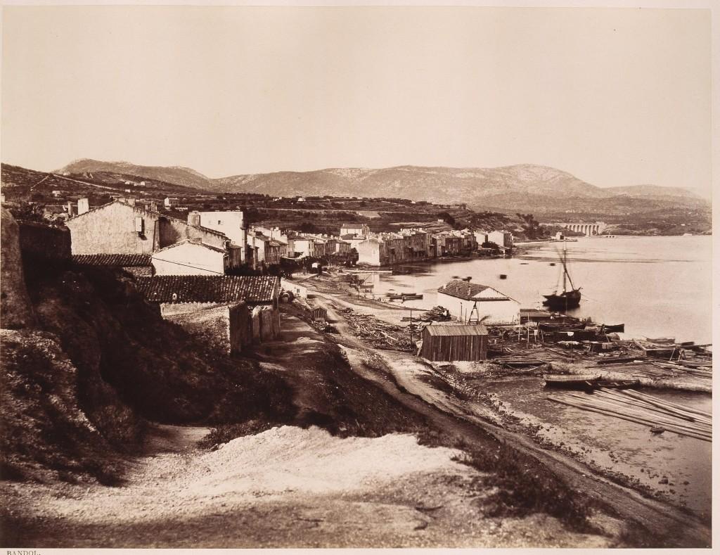 Photo de Bandol (original à la Bnf) prise par Edouard-Denis Baldus (1858) . (cliquer dessus pour l'agrandir)
