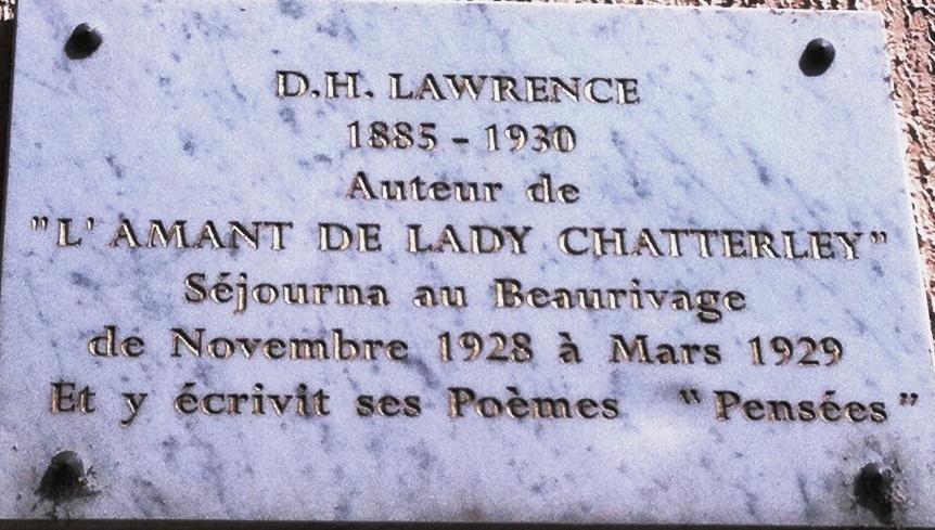 Plaque en mémoire de DH Lawrence