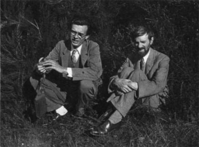 Aldous Huxley  et DH Lawrence 1929