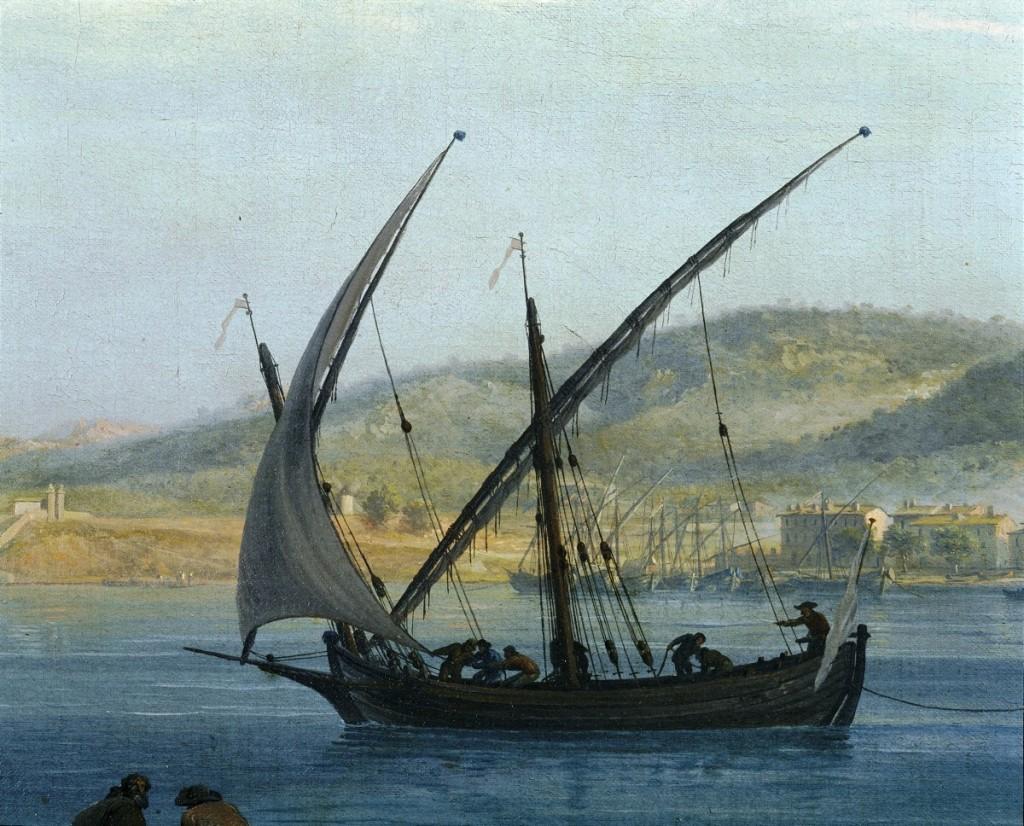 Extrait du tableau de Joseph Vernet - La tartane du seigneur de Boyer